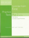 Practice Tests Plus: First 2 with Key