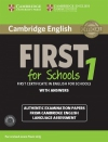 Cambridge English First 1 for Schools First Certificate in English for Schools with answers