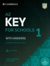 A2 Key for Schools 1 for the Revised 2020 Exam Student's Book with Answers with Audio ( Wyprzedaż )